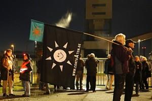 Protestaktion am Bergwerk; Bild: Publixviewing