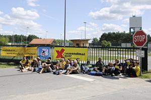 Blockade des Bergwerks; Bild: Publixviewing