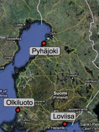 AKW-Standorte in Finnland
