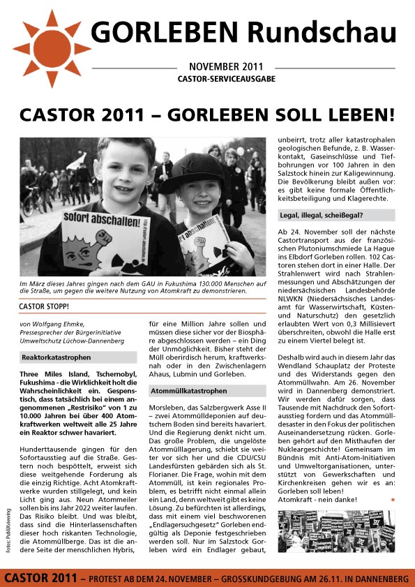 November 2011 - Castor-Service