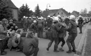 Proteste gegen Castor Transport, 25. April 1995