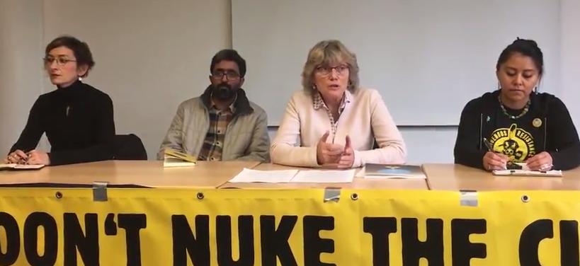 Pinar Demircan nükleersiz.org /Türkei – Kumar Sundaram DiaNuke / Indien – Angelika Claußen IPPNW / Deutschland – Leona Morgan Stamm der Diné / USA