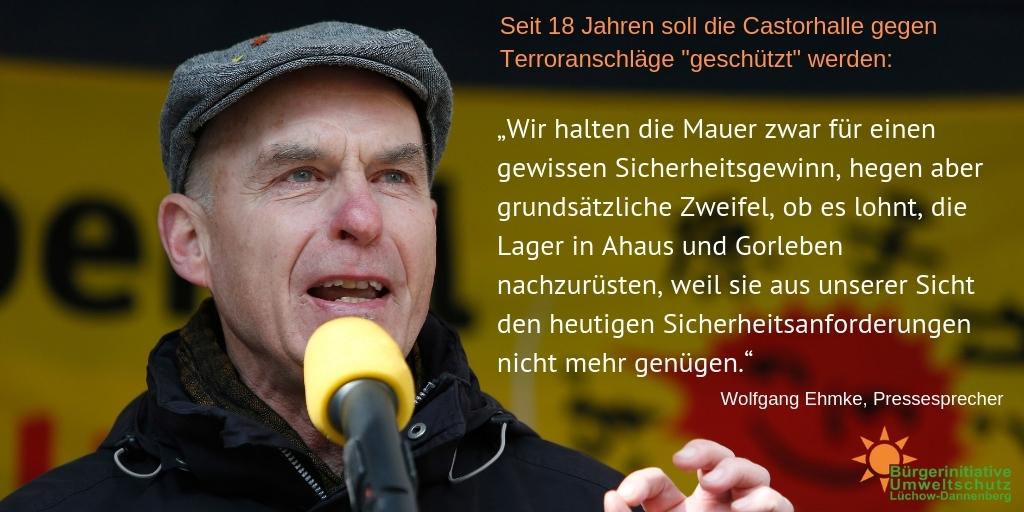Wolfgang Ehmke, Pressesprecher der BI Lüchow-Dannenberg
