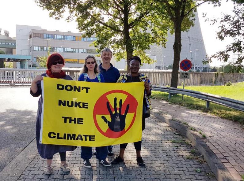 14.9.2019: Protest vor AKW Emsland, Foto: SofAMS