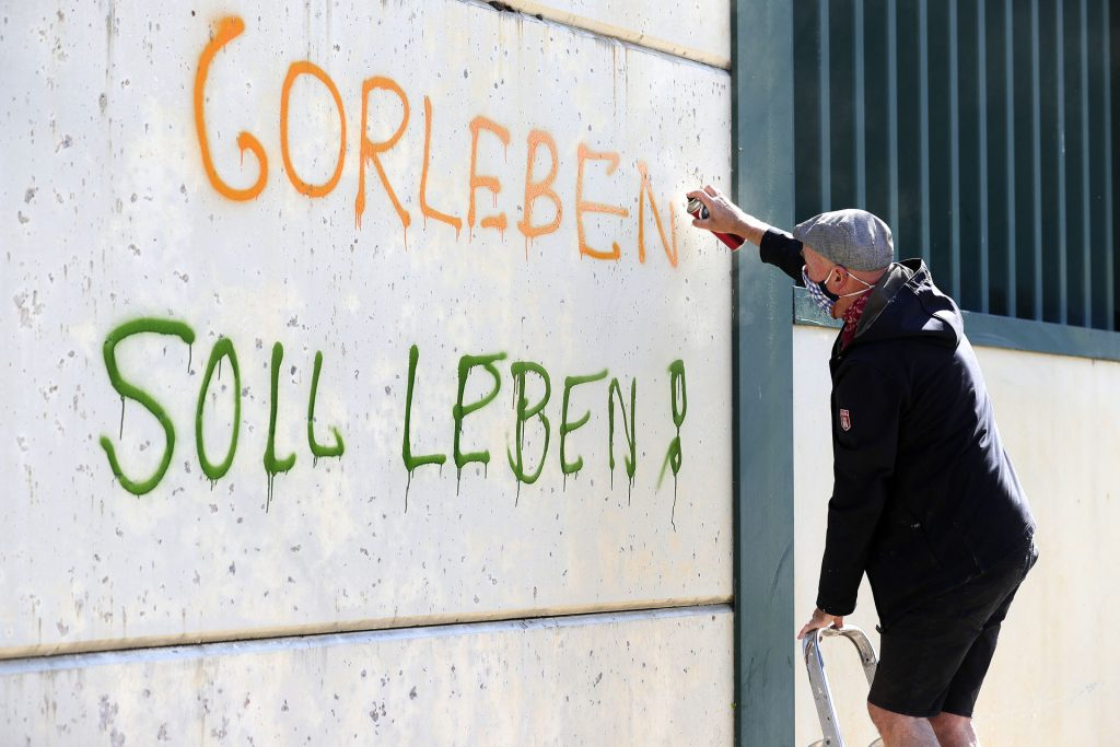 Graffiti-Aktion Gorleben